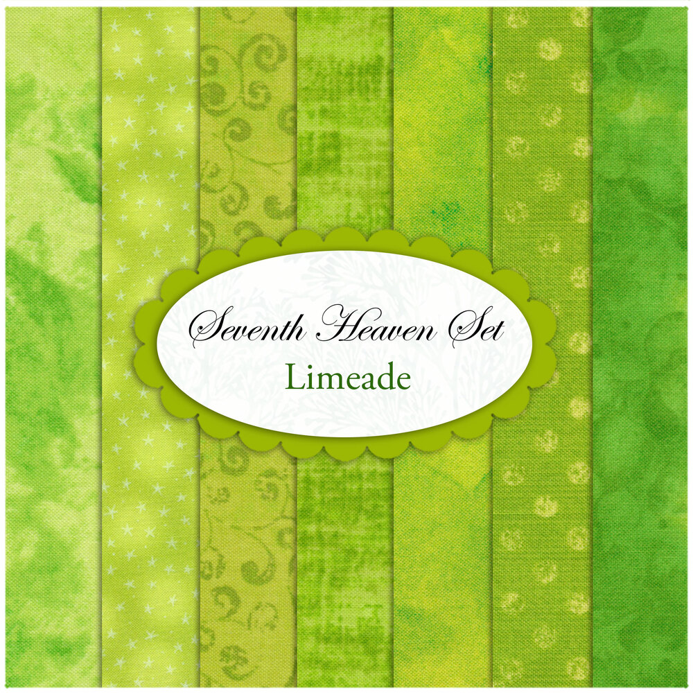 Seventh Heaven 7 FQ Set - Limeade from Shabby Fabrics