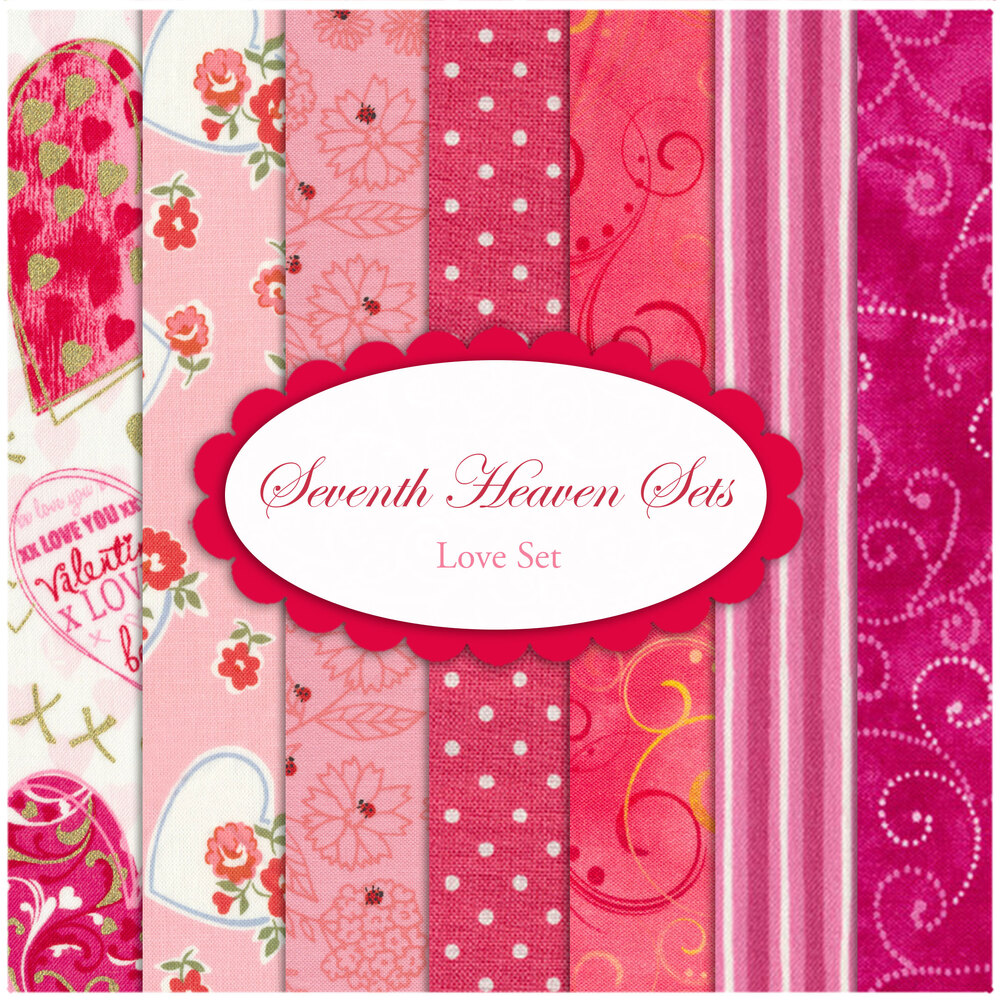 Seventh Heaven 7 FQ Set - Love from Shabby Fabrics