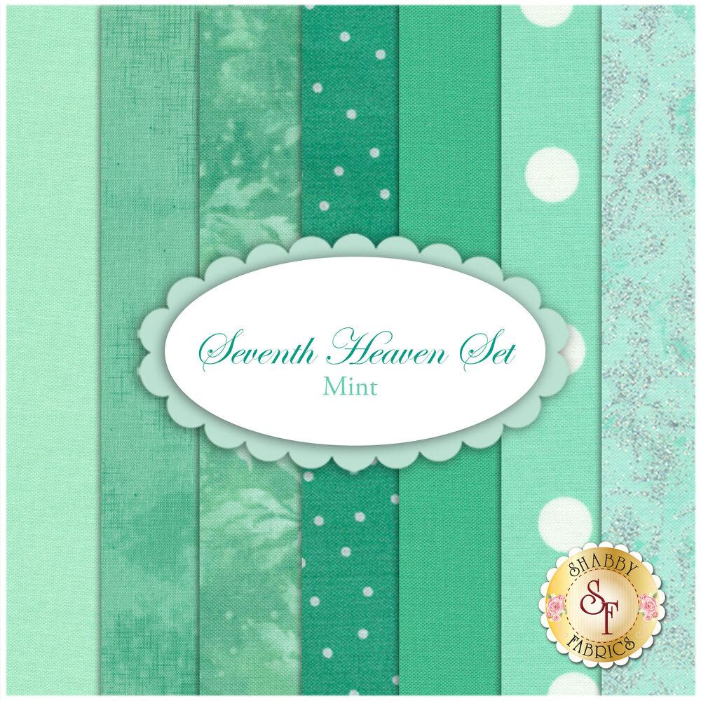 Seventh Heaven 7 FQ Set - Mint from Shabby Fabrics