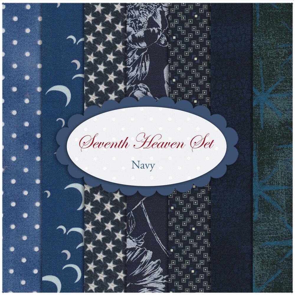 Seventh Heaven 7 FQ Set - Navy from Shabby Fabrics