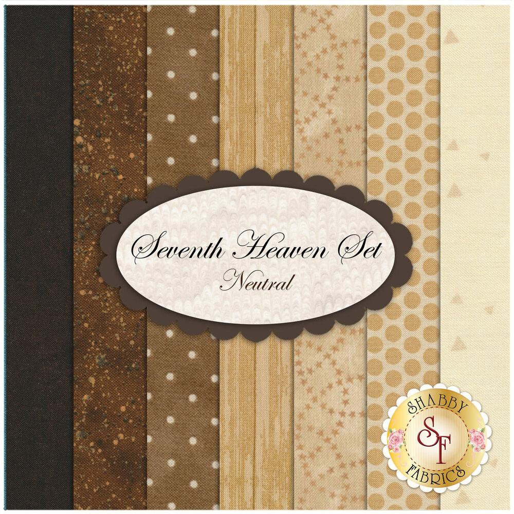 Seventh Heaven 7 FQ Set - Earth from Shabby Fabrics