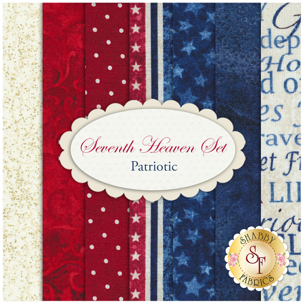 Seventh Heaven 7 FQ Set - Patriotic from Shabby Fabrics