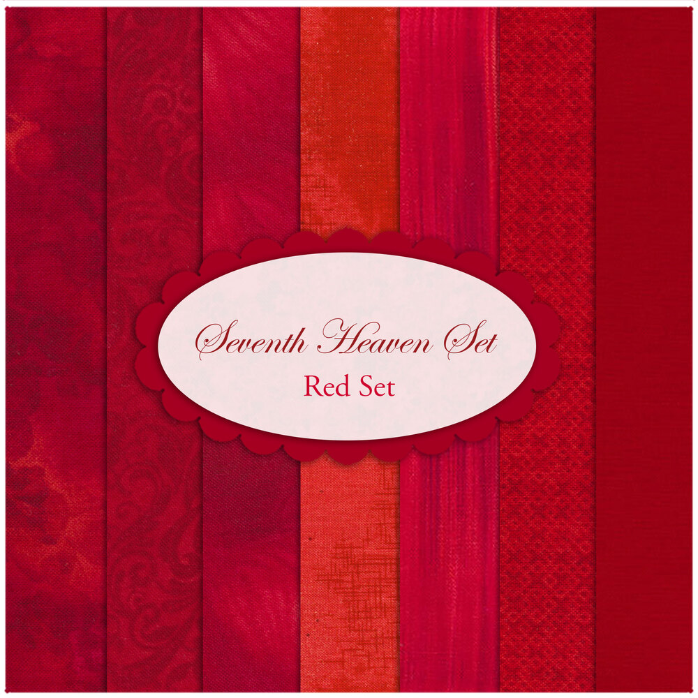 Seventh Heaven 7 FQ Set - Red from Shabby Fabrics