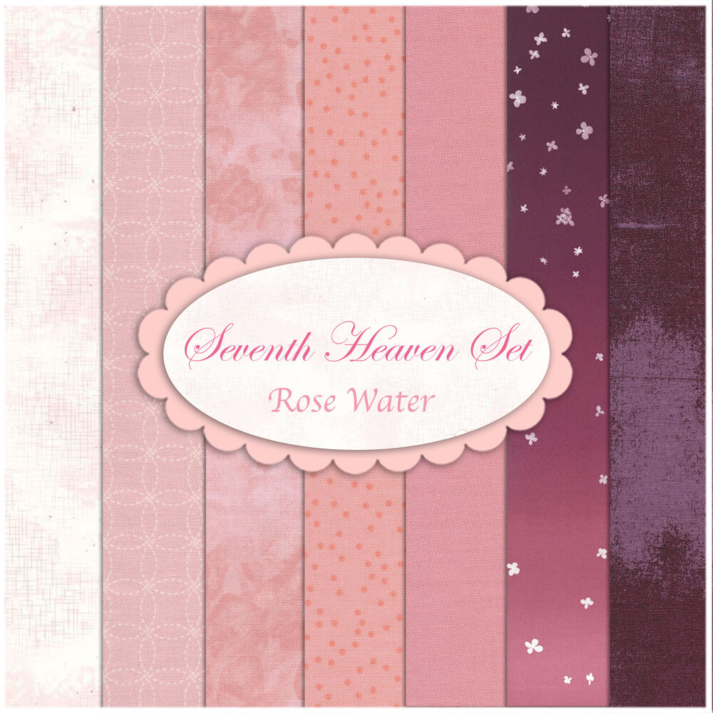 Seventh Heaven 7 FQ Set - Rose Water from Shabby Fabrics