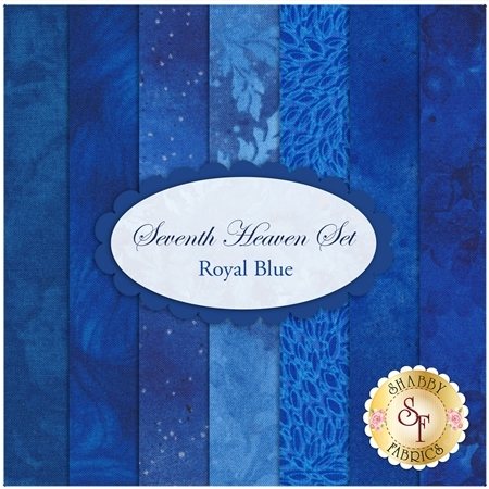 Seventh Heaven 7 FQ Set - Royal Blue from Shabby Fabrics