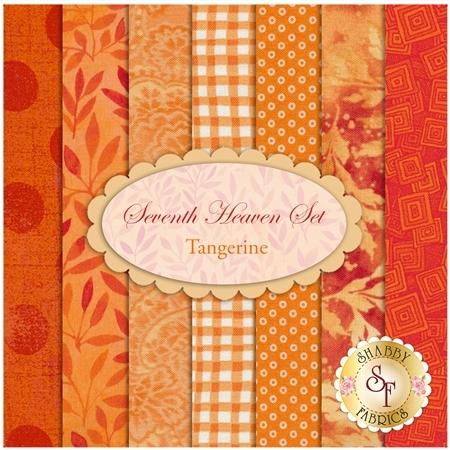 Seventh Heaven 7 FQ Set - Tangerine from Shabby Fabrics