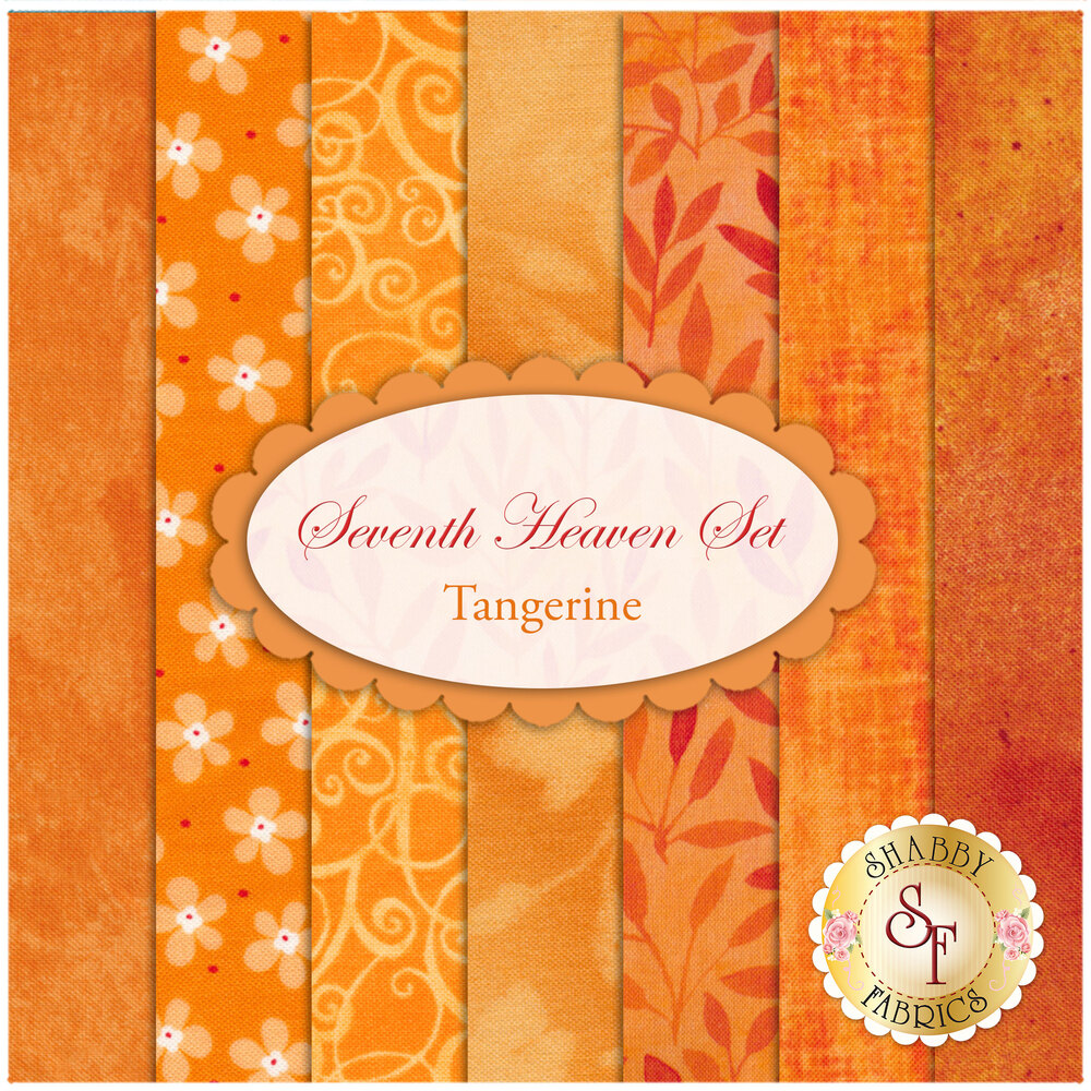 Seventh Heaven 7 FQ Set - Tangerine from Shabby Fabrics