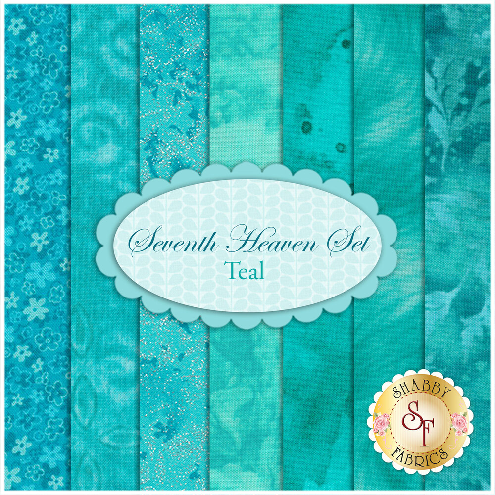 Seventh Heaven 7 FQ Set - Teal from Shabby Fabrics