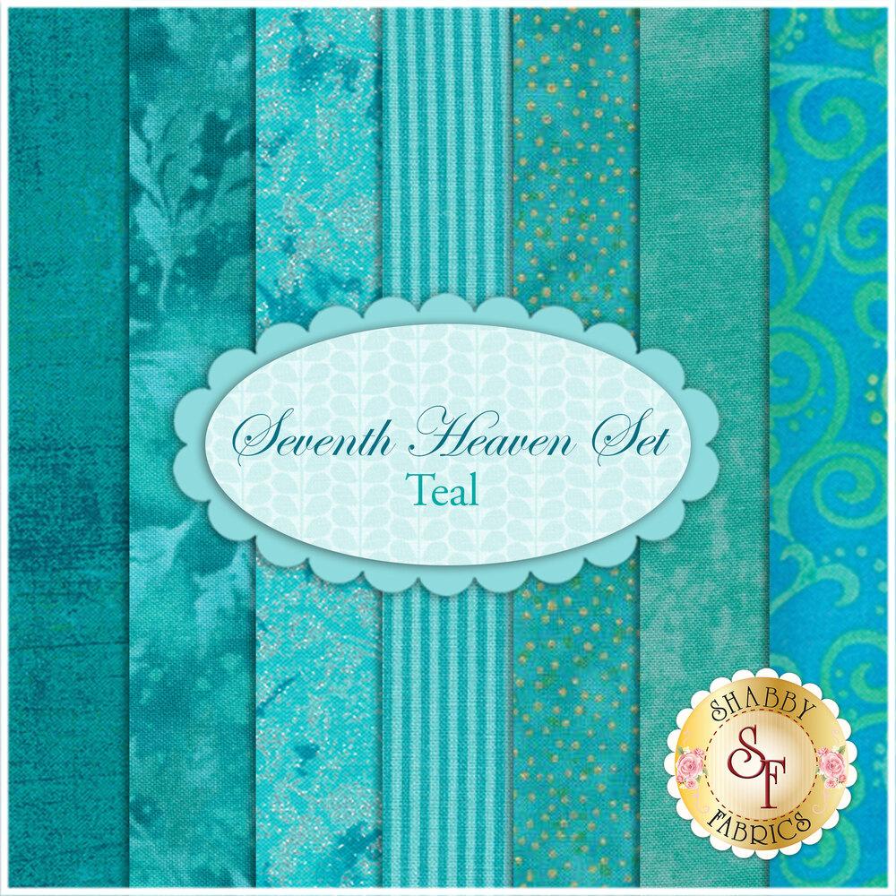 Seventh Heaven 7 FQ Set - Teal from Shabby Fabrics