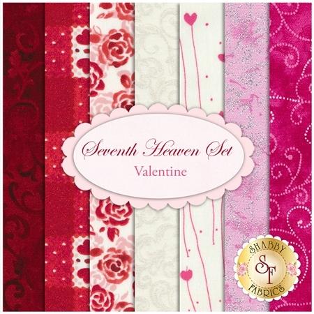 Seventh Heaven 7 FQ Set - Valentine's from Shabby Fabrics