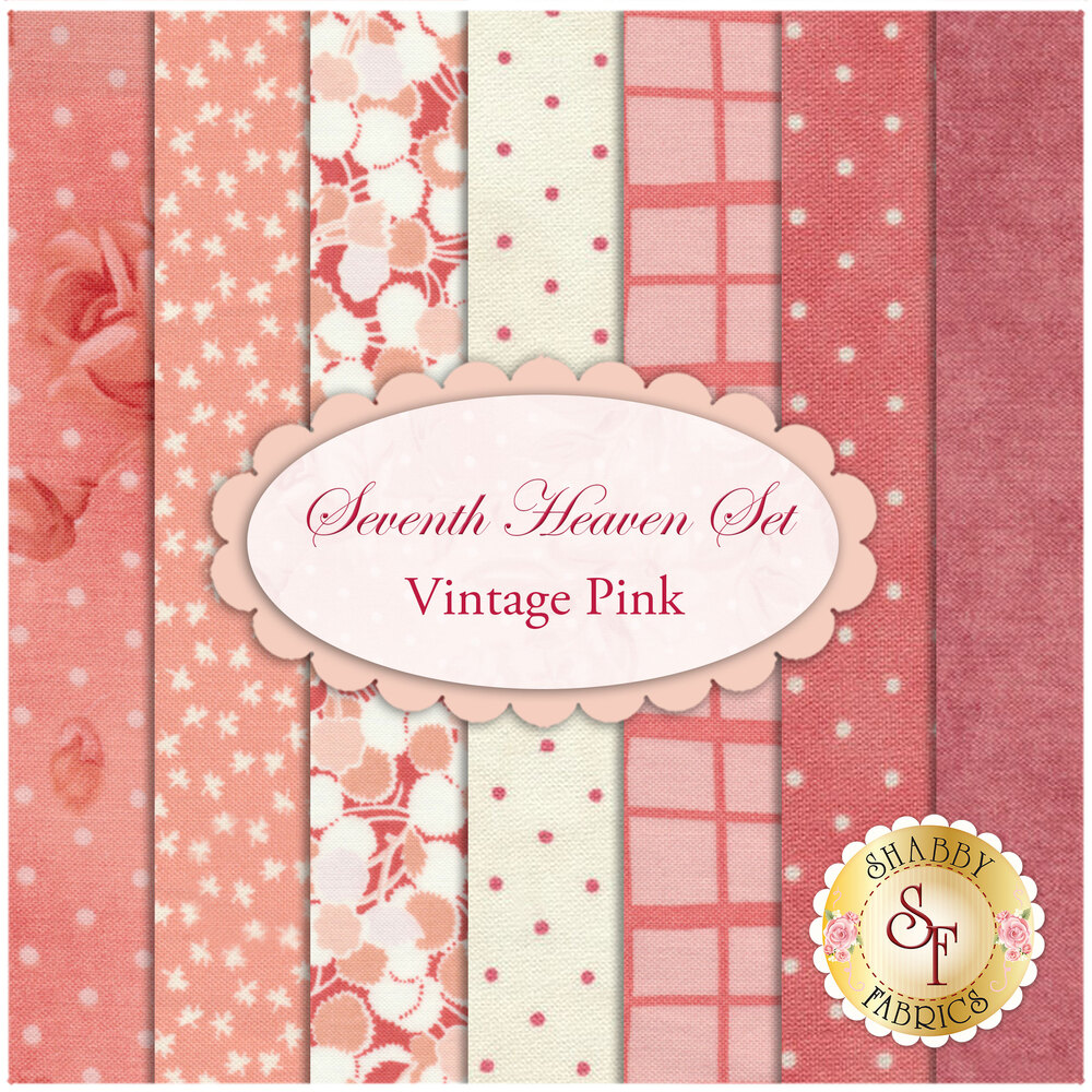 Seventh Heaven 7 FQ Set - Vintage Pink from Shabby Fabrics