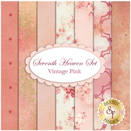 Seventh Heaven 7 FQ Set - Vintage Pink
