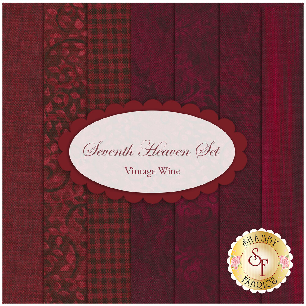 Seventh Heaven 7 FQ Set - Vintage Wine from Shabby Fabrics