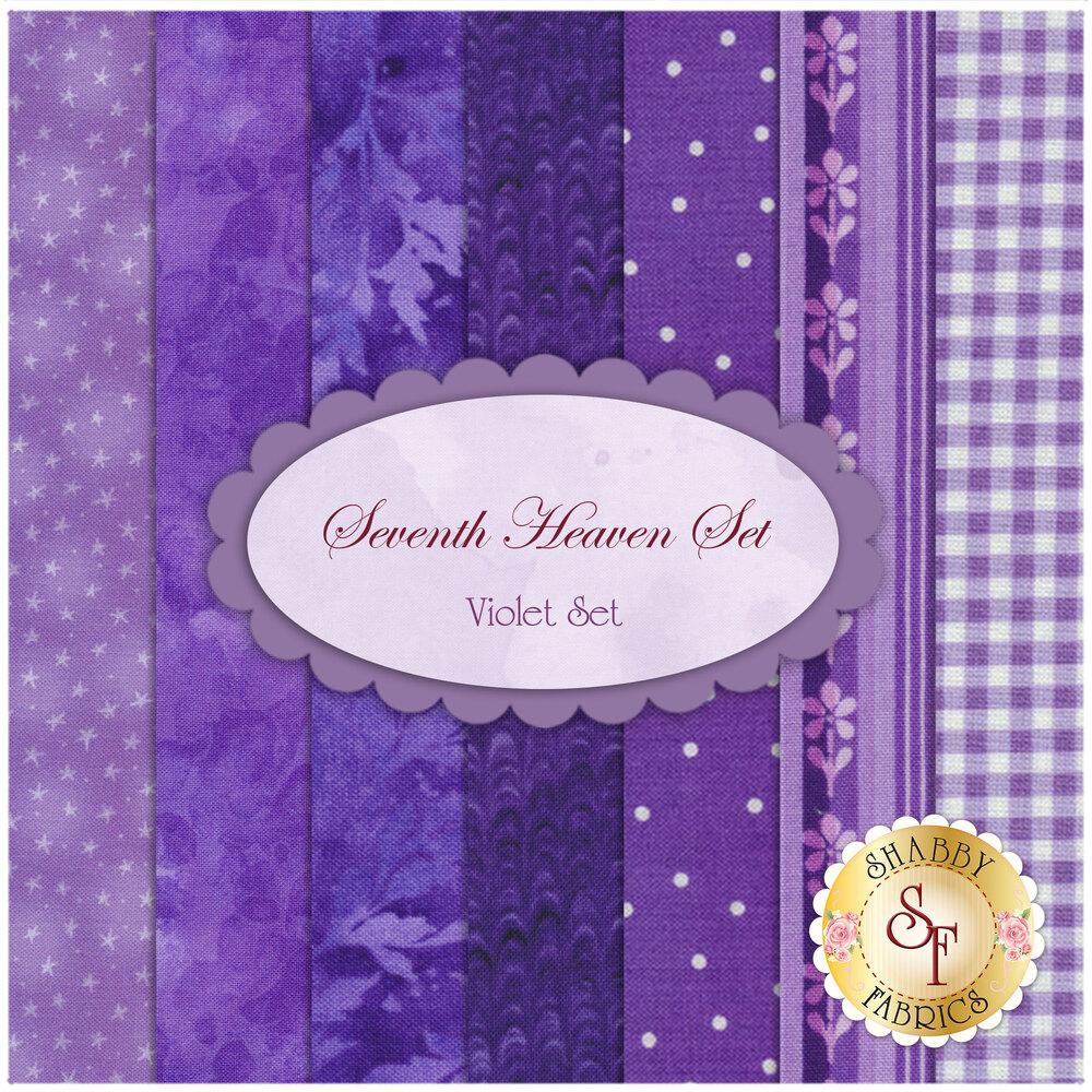 Seventh Heaven 7 FQ Set - Violet from Shabby Fabrics