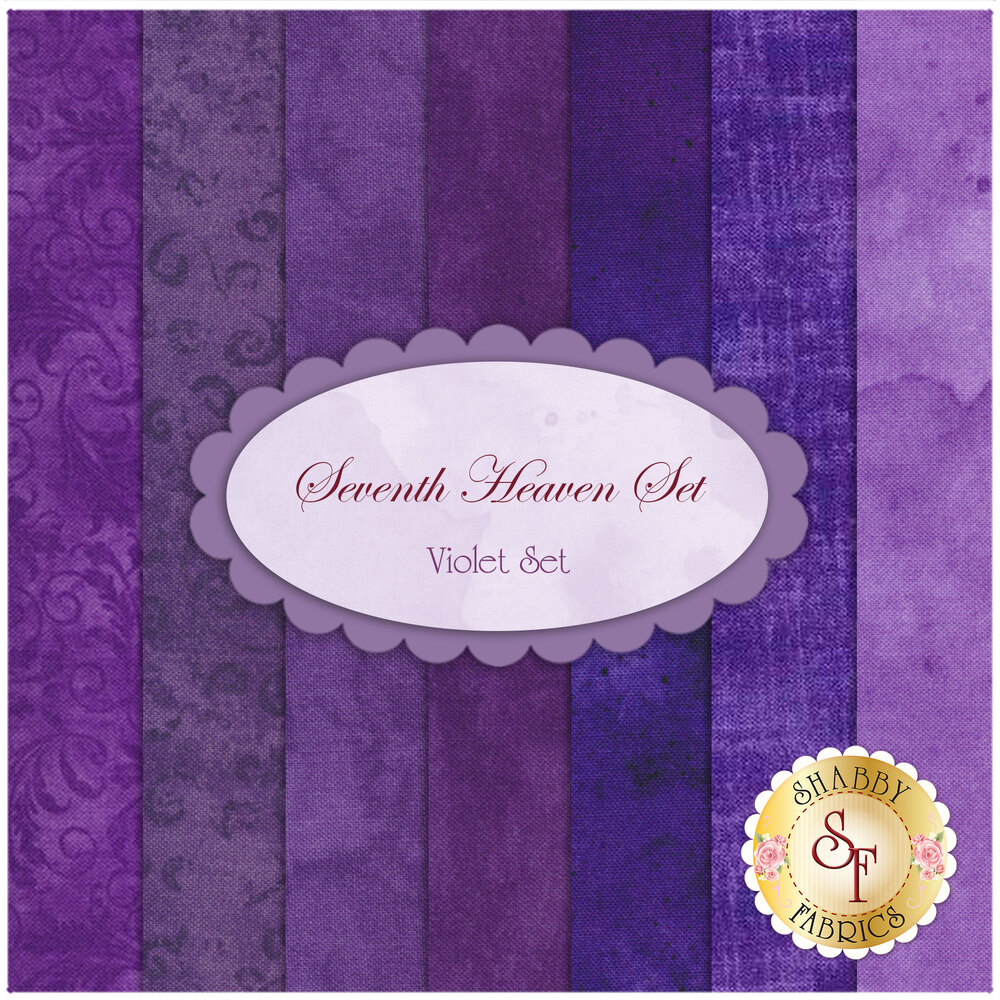 Seventh Heaven 7 FQ Set - Violet from Shabby Fabrics