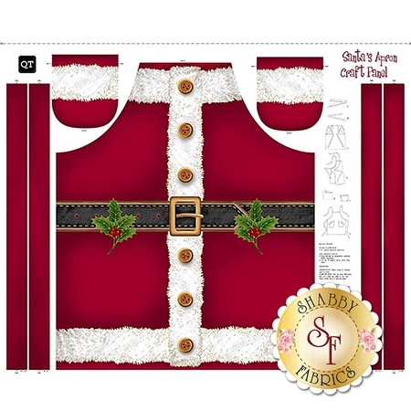 Sew & Go 25895-R Santa's Apron Panel by Quilting Treasures