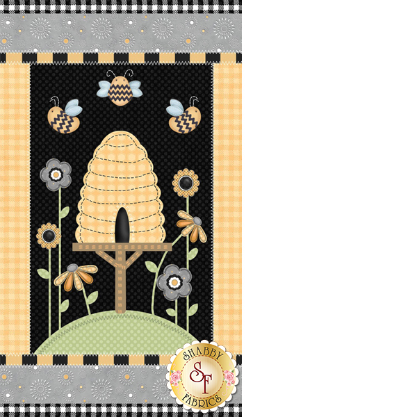 Sew Bee It 6639P-94 Panel by Shelly Comiskey for Henry Glass Fabrics