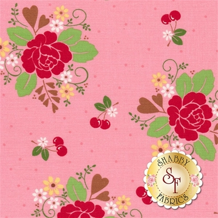 Sew Cherry 2 C5800-PINK by Lori Holt for Riley Blake Design