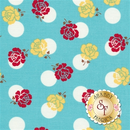 Sew Cherry 2 C5801-AQUA by Lori Holt for Riley Blake Design