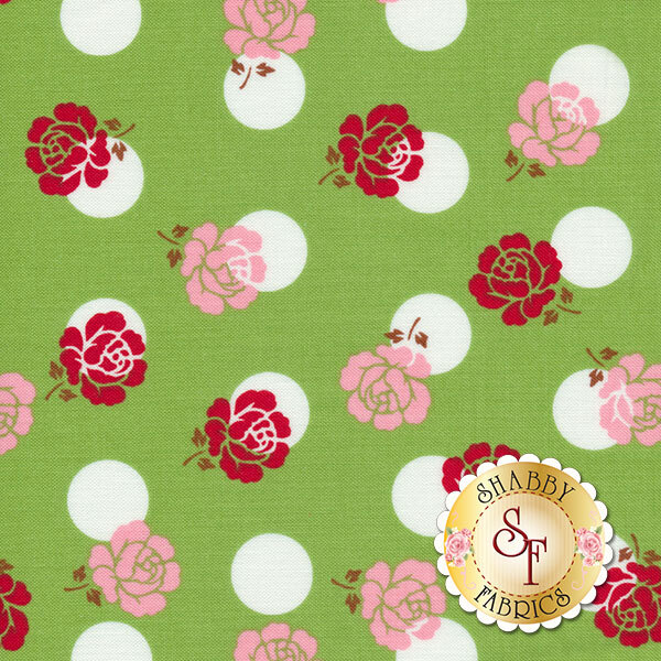 Sew Cherry 2 C5801-GREEN by Lori Holt for Riley Blake Designs