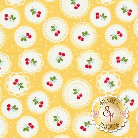 Sew Cherry 2 C5802-YELLOW by Lori Holt for Riley Blake Designs