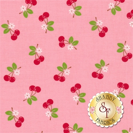 Sew Cherry 2 C5804-PINK by Lori Holt for Riley Blake Designs