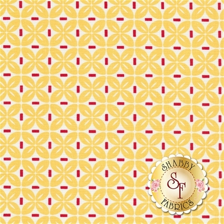 Sew Cherry 2 C5806-YELLOW Leaf Yellow by Lori Holt for Riley Blake Designs