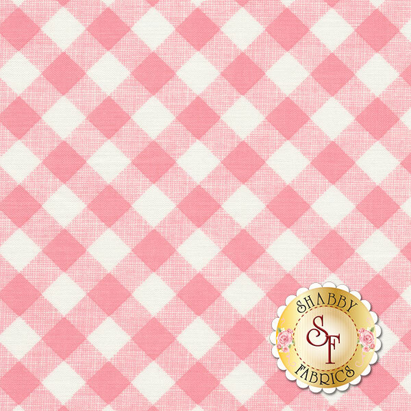 Sew Cherry 2 C5808-PINK Gingham Pink by Lori Holt for Riley Blake Designs