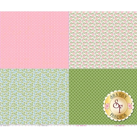 Sew Cherry 2 FQP5809-PINK Fat Quarter Panel Pink by Lori Holt for Riley Blake Designs