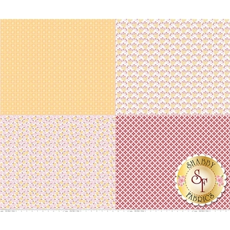 Sew Cherry 2 FQP5809-YELLOW Fat Quarter Panel Yellow by Lori Holt for Riley Blake Designs