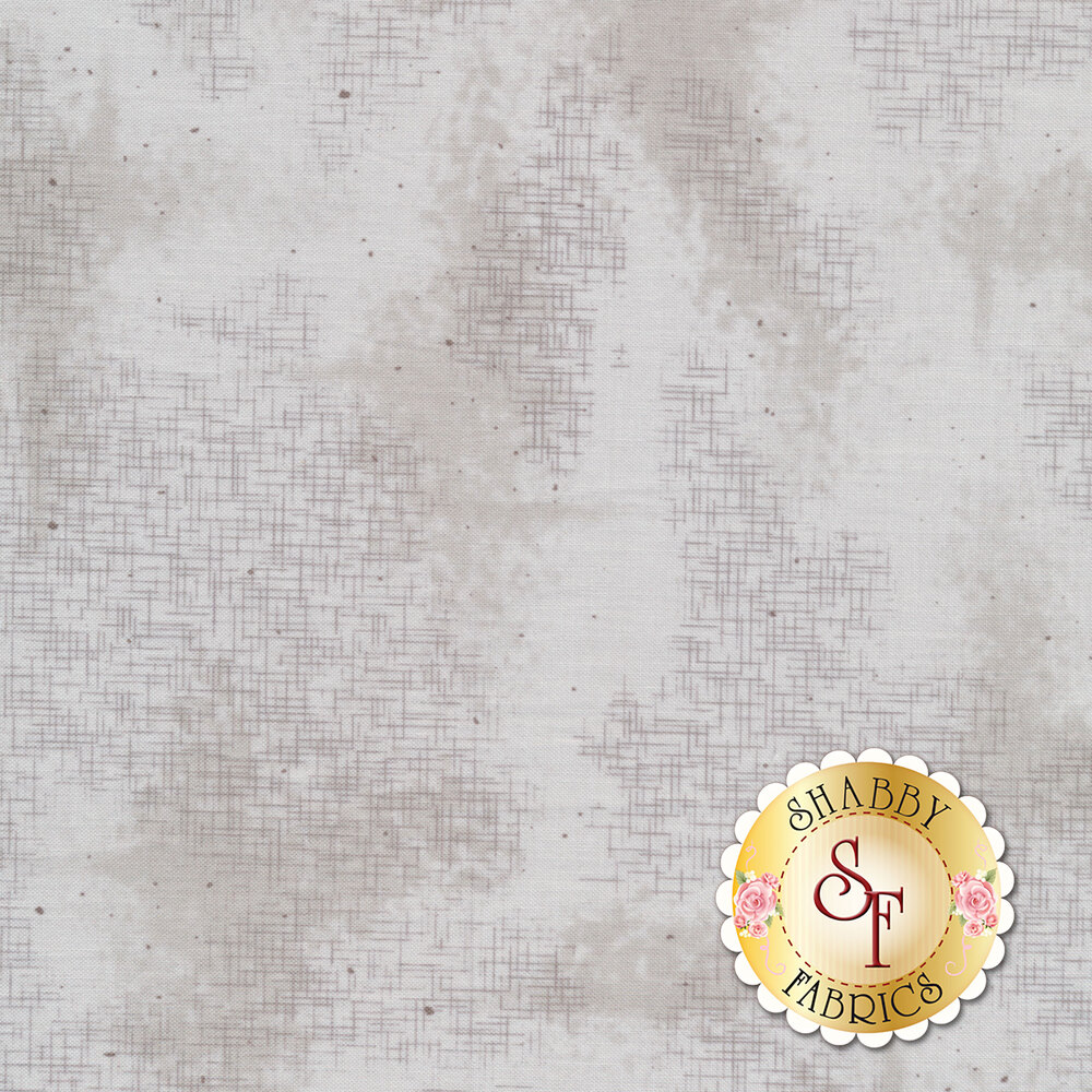 A basic gray tonal fabric with crosshatching and mottling | Shabby Fabrics