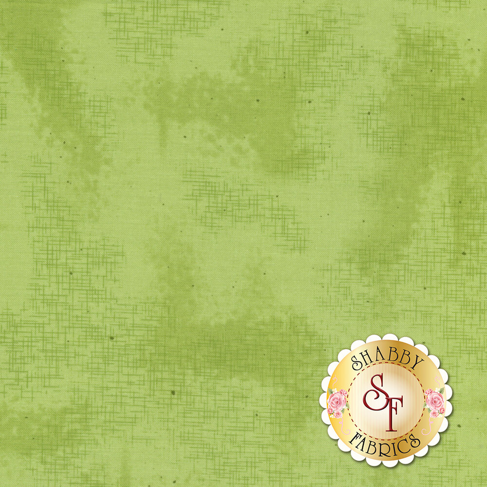 A basic green fabric with crosshatching and mottling | Shabby Fabrics