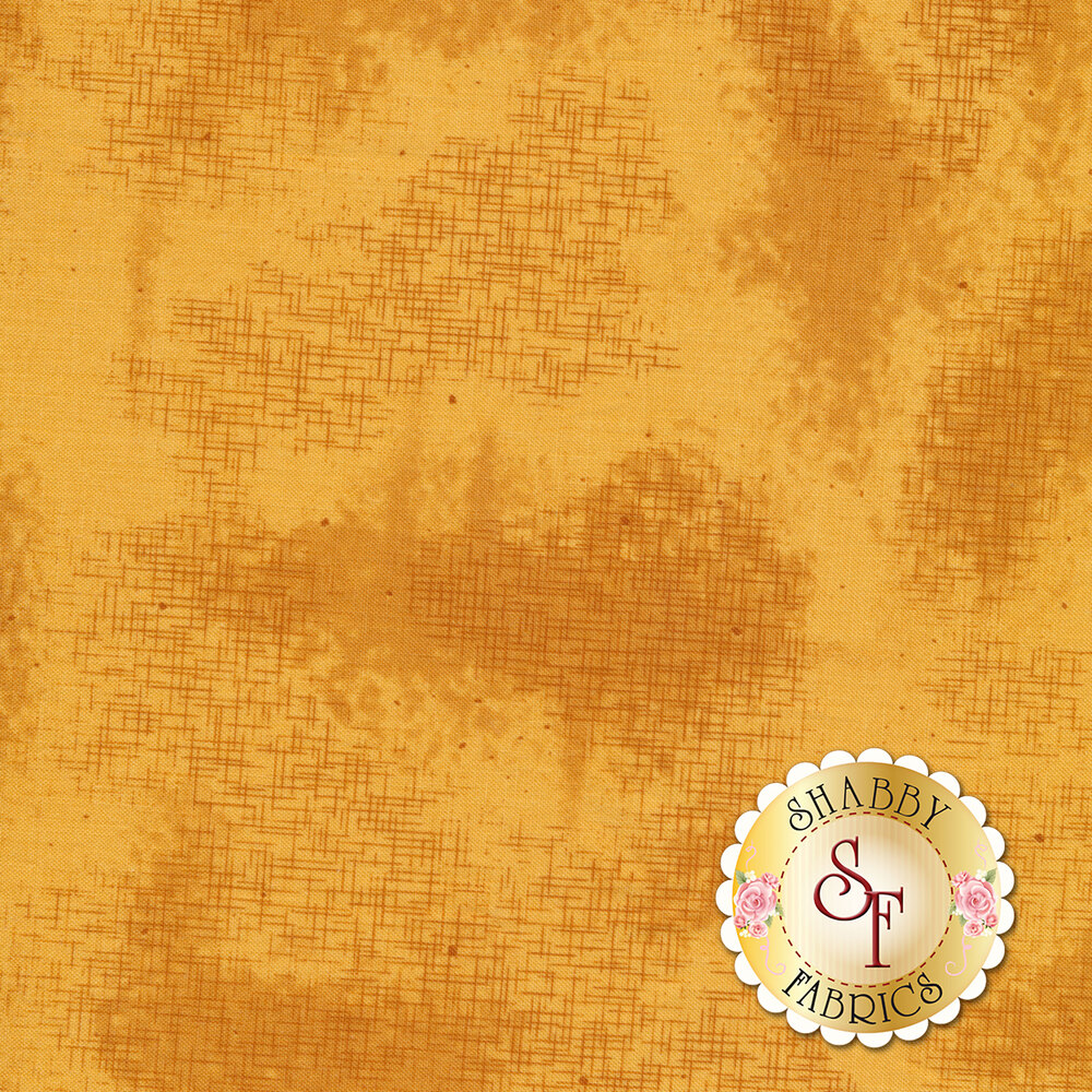 A basic yellow tonal fabric with crosshatching and mottling | Shabby Fabrics
