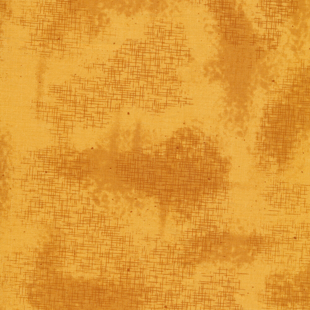 A basic yellow tonal fabric with crosshatching and mottling   Shabby Fabrics