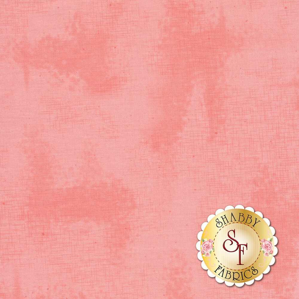 A basic pink tonal fabric with crosshatching and mottling | Shabby Fabrics