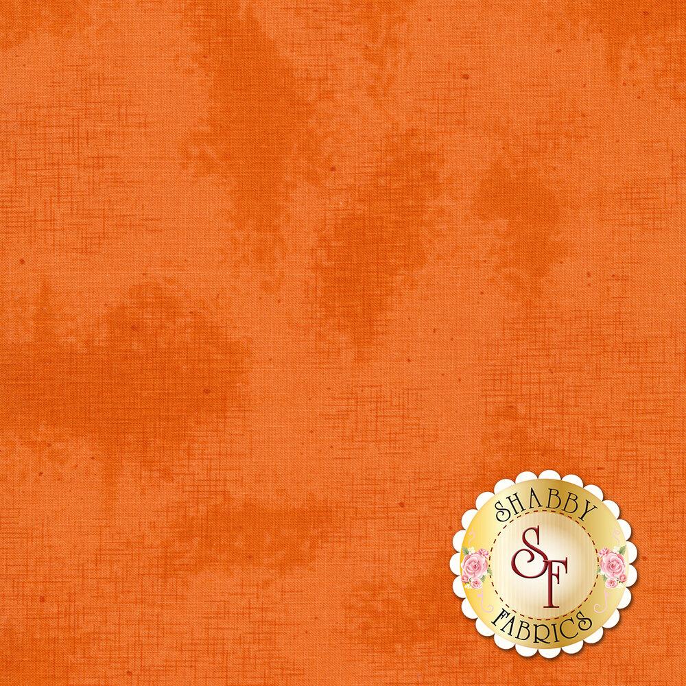 A basic orange fabric with crosshatching and mottling | Shabby Fabrics