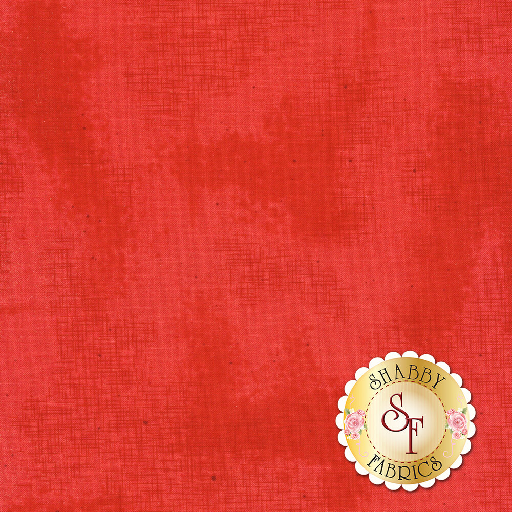 A basic red fabric with crosshatching and mottling | Shabby Fabrics