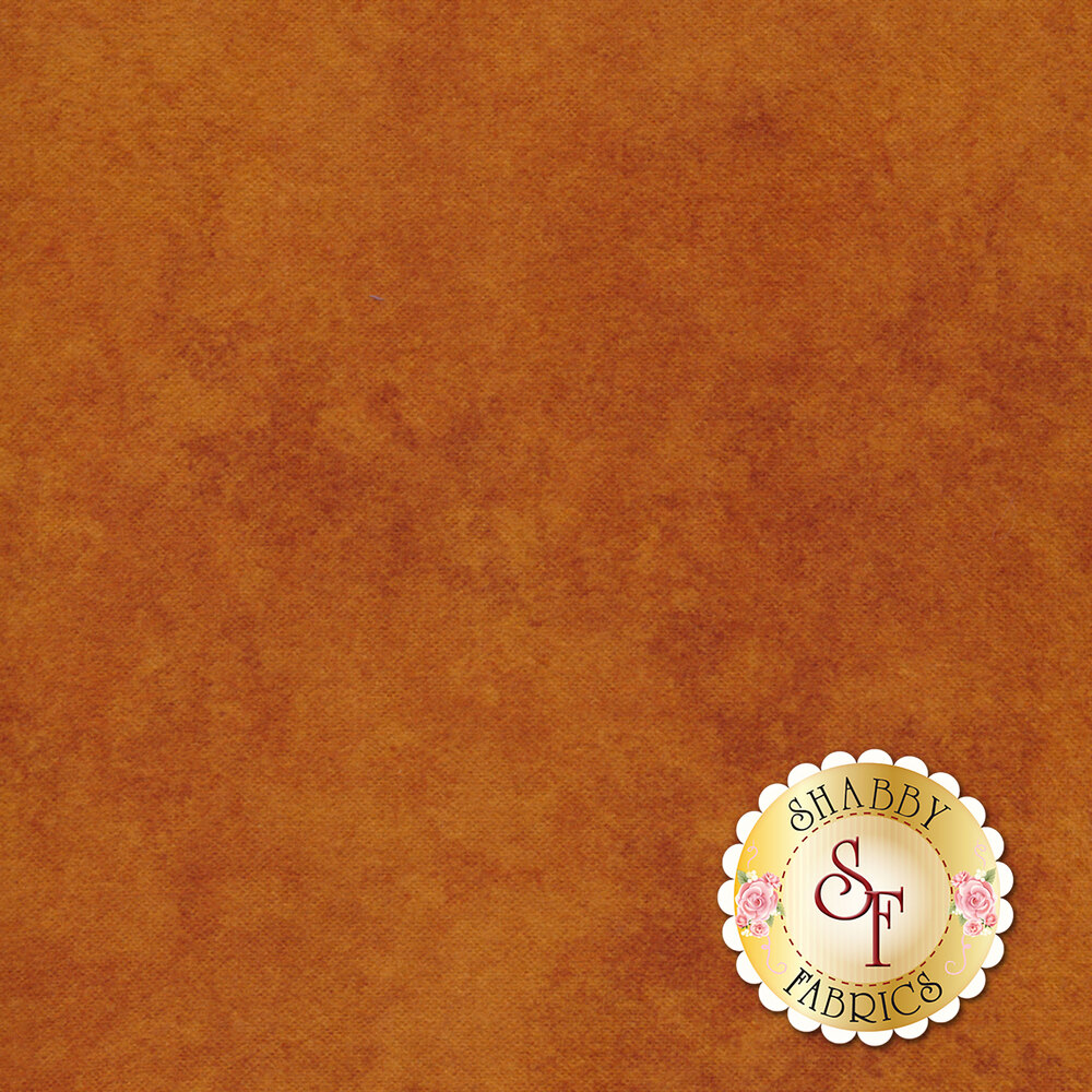 Rust colored mottled flannel | Shabby Fabrics