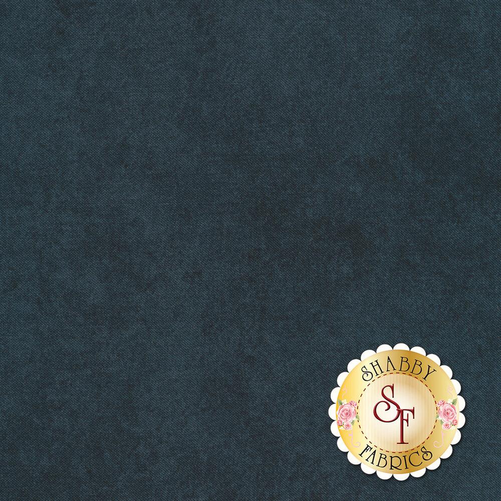Mottled navy blue fabric | Shabby Fabrics