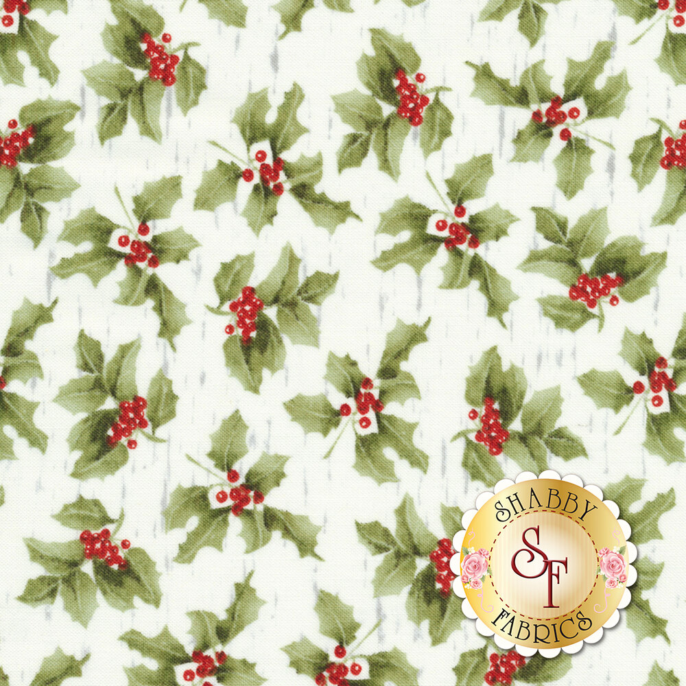 Sheltering Snowman 1303-6 Holly by Henry Glass Fabrics