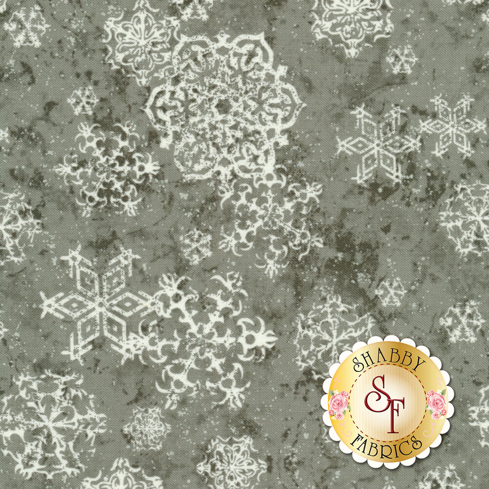 Sheltering Snowman 1311-90 Lacey Snowflakes by Henry Glass Fabrics