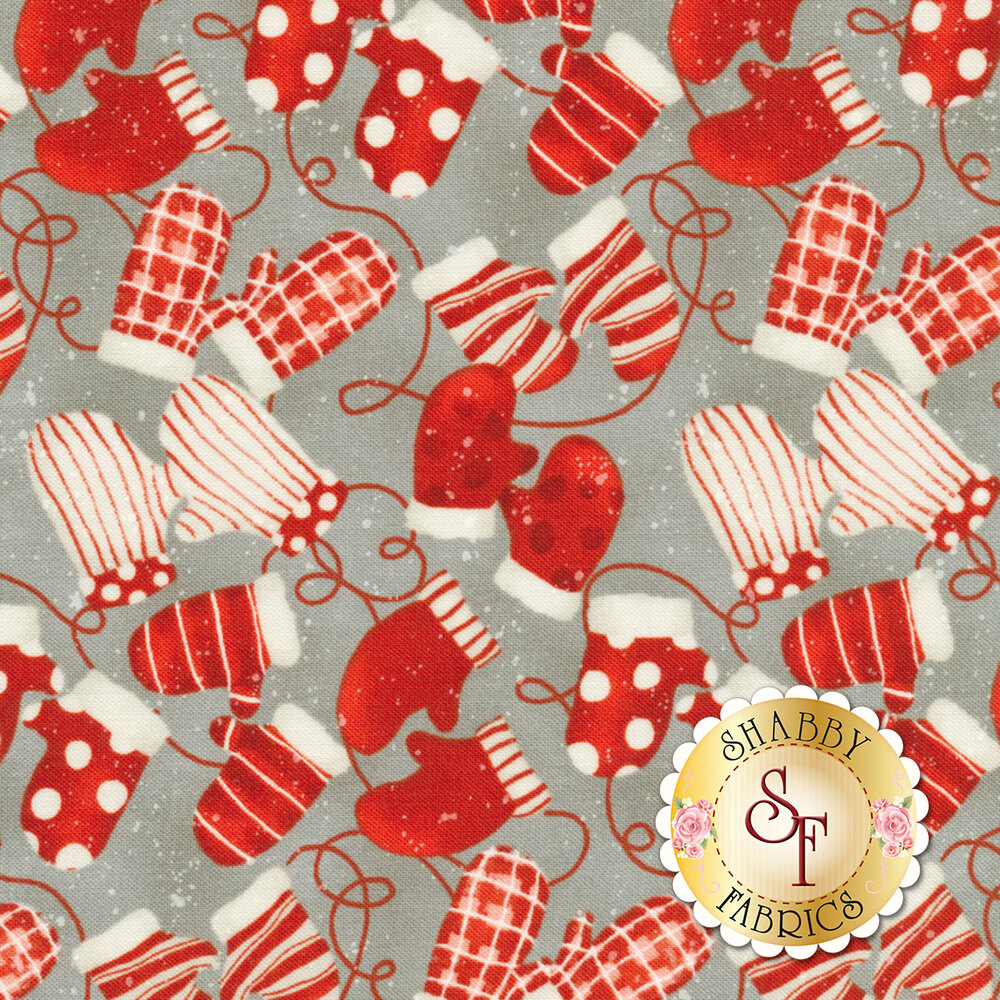 Sheltering Snowman 1313-90 Mittens by Henry Glass Fabrics