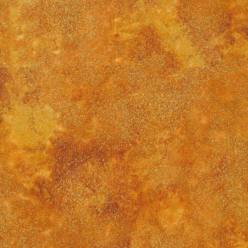 Orange mottled fabric with metallic shimmer   Shabby Fabrics