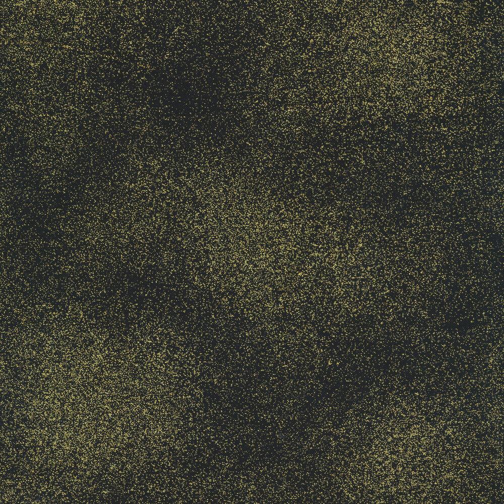 Black mottled fabric with metallic shimmer | Shabby Fabrics