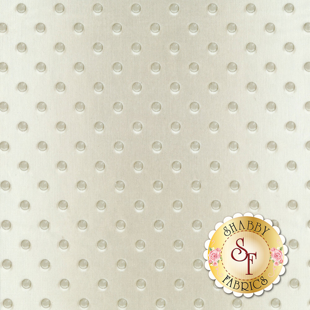 A white and grey hobnail glass pattern | Shabby Fabrics