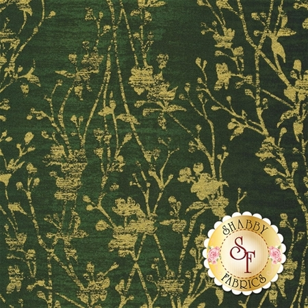 Shiny Objects Holiday Twinkle 3022-7 Velvety Vines Tannenbaum by Flaurie & Finch for RJR Fabrics
