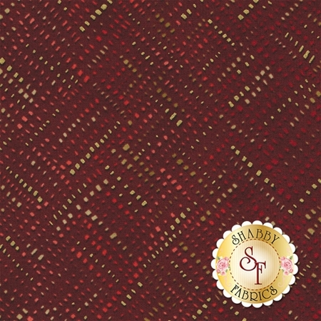 Shiny Objects Holiday Twinkle 3026-4 Alloy Red Velvet by Flaurie & Finch for RJR Fabrics