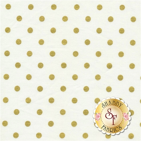 Shiny Objects Holiday Twinkle 3164-4 Spot On Snow by Flaurie & Finch for RJR Fabrics
