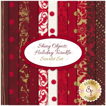 Shiny Objects Holiday Twinkle  11 FQ Set - Scarlet Set by RJR Fabrics
