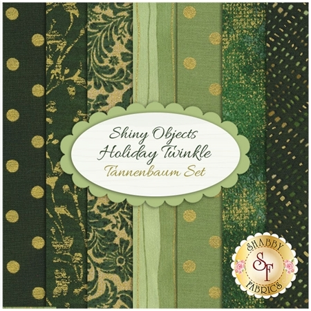 Shiny Objects Holiday Twinkle  7 FQ Set - Tannenbaum Set by Flaurie & Finch for RJR Fabrics